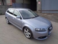 AUDI A3 S LINE 2007 SPORTBACK 5 DOOR *****1 OWNER FROM NEW*****12 MONTHS M.O.T******