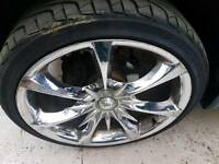 "Vw alloys .t4/ vito 20""gd tyres no buckcles or repairs"