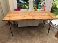 Industrial modern rustic dining table