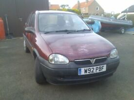 VAUXHALL CORSA 1000CC RED/MAROON PETROL YEAR 2000