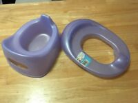 Potty and toilet seat insert