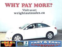 2012 Chevrolet Cruze LS| POWER LOCKS/WINDOWS| A/C| 79,178KMS| $9