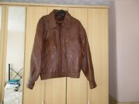 """100% brown leather jacket size 38"""""""