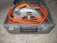 HAND HELD POWERFUL CIRCULAR SAW WITH CARRY CASE