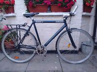Dutch style bike with peddle backward brakes
