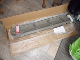 new venetian blind from Blinds4uk slate faux never fitted wrong size. 1080mm wide 1030 drop