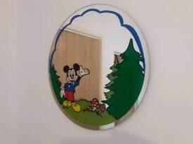 Retro Vintage Mickey Mouse Walt Disney Round Mirror