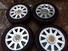 AUDI A6 5 ALLU WHEELS AND TYRES.