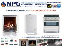 Landlord Gas Safety Certificate CP12 *£30* *Gas Safety Engineer*Gas Repairs*Breakdowns*24-7 CallOuts