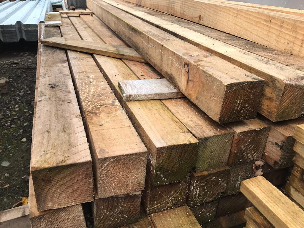 🌞 Wooden Posts 2.35m x 85mm x 85mm
