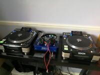 A pair of Denon DN-S3700 Digital CDJ players
