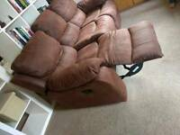 Sofa Leather Recliners x2