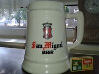 San miguel vintage 1940s large tankard collectable