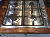 Bosch appliances gas hob and hood, built in oven and grill ,under worktop fridge and freezer