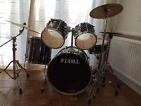 Tama Superstar 5 piece drum kit - drums plus Paiste cymbals