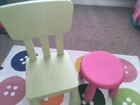two chairs ikea £10