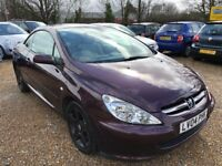 2004 PEUGEOT 307CC 307 CC CONVERTIBLE PURPLE TIDY EXAMPLE