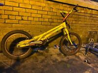 2 bmxs and a trial bike