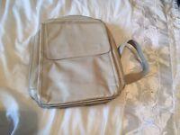Genuine leather women's cream rucksack handbag, made in Italy, expensive brand