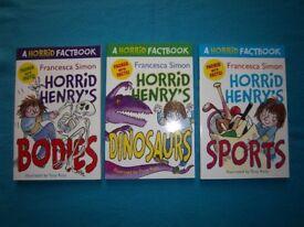 Horrid Henry Fact Books x 3 IP1