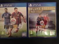 FIFA 15 and 16 on PS4