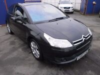2007 CITROEN C4 2.0HDI VTS 3DOOR COUPE DIESEL, FULL SERVICE HISTORY, HPI CLEAR DRIVES LIKE NEW