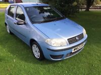 PUNTO 1.2 ACTIVE 53 REG 5 DOOR IN BLUE WITH 95,400 MILES SERVICE HISTORY AND MOT SEPT 2018