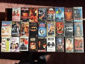 26 VHS Videos Mainly Action Movies