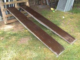 PAIR OF 8FT TRAILER RAMPS GALVANISED STEEL FRAME / BOARD TREADS...