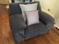 Charcoal sofa armchair