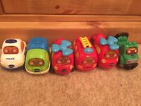 6 VTECH TOOT TOOT VEHICLES