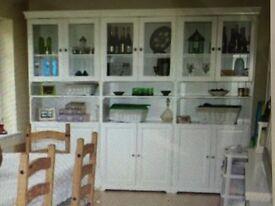 3 x Tall Cream Cabinets