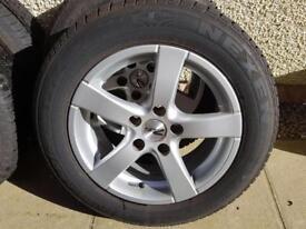Winter Tyres + Zito Alloys 5 x 110