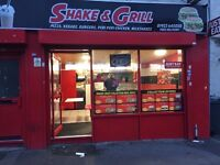 PIZZA AND CHIP SHOP FOR SALE near Walsall Town Center