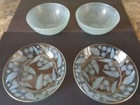 Dishes in duck egg blue