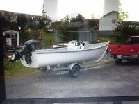 19 foot boat motor and trailer