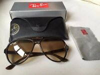 Ray Ban CATS 5000 Unisex Tortoise Shell Sunglasses + Case & Original Box