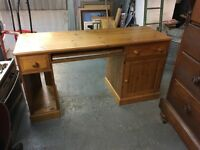 LOVELY PINE DESK WITH DOVE TAIL DRAWERS