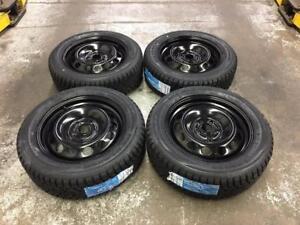 "16"" Volkswagen Steel Wheels and 205/55R16 Winter Tires (Golf Jetta)"