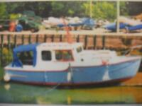 26' 2 BERTH CRUISER EPOXY SHEATHED BMC 1.5 DIESEL - £12000