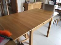 Ikea oak veneer extendable table