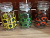 Orla Kiely glass storage jar
