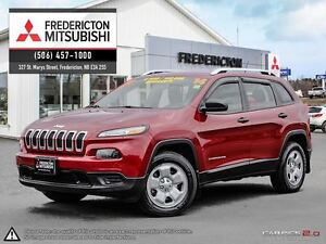 2014 Jeep Cherokee SPORT! 4X4! V6! ONLY $88/WK TAX INC. $0 DOWN!