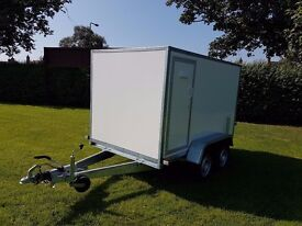 Twin axle box van trailer twin axle with brakes - Only £2500 plus vat- spare wheel free