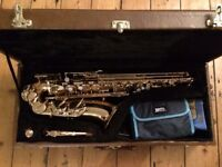 Alto Jupiter Saxophone, in excellent condition with case and neck strap