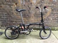 Vintage Brompton M3E 3 Speed folding bicycle *WORLWIDE SHIPPING*