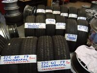 """new and almost new 17"""" 4x4 tyres 225 60 17s , 225 65 17s , 235 65 17s , 235 55 17s, all top brands"""