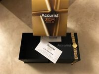 NEW 9ct GOLD ACCURIST WATCH