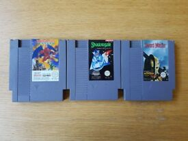 Nintendo NES games x3 *VERY RARE* incl. Gargoyles Quest 2
