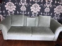 Three seater sofa and single chair